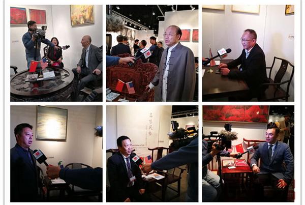 美国国家电视台采访受邀参加首届当代经典红木家具中美交流展的6家品牌代表