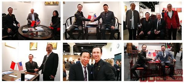 洛杉矶国际艺博会董事局主席斯科特先生参观首届当代经典红木家具中美交流展