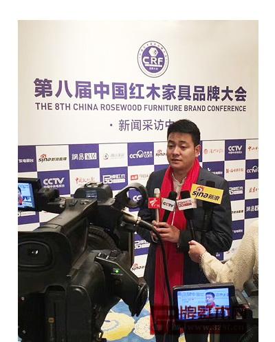 忆古轩总经理刘宇接受中央电视台等媒体采访