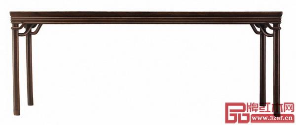 图3_清早期 黄花梨垛边条桌 长213厘米 宽76.3厘米 高83.4厘米 (香港攻玉山庄旧藏)