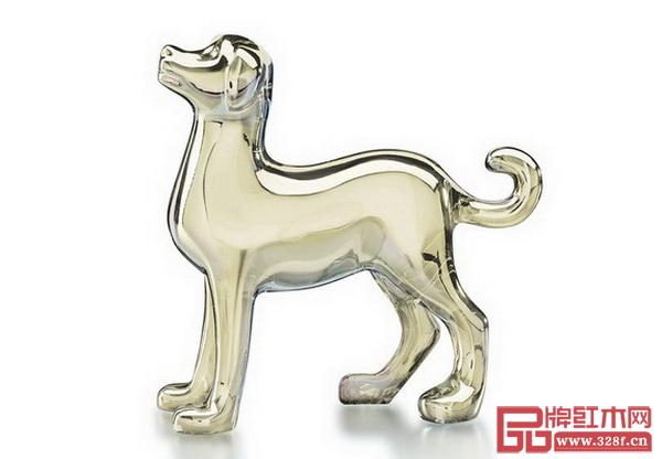 Baccarat犬形水晶雕塑_