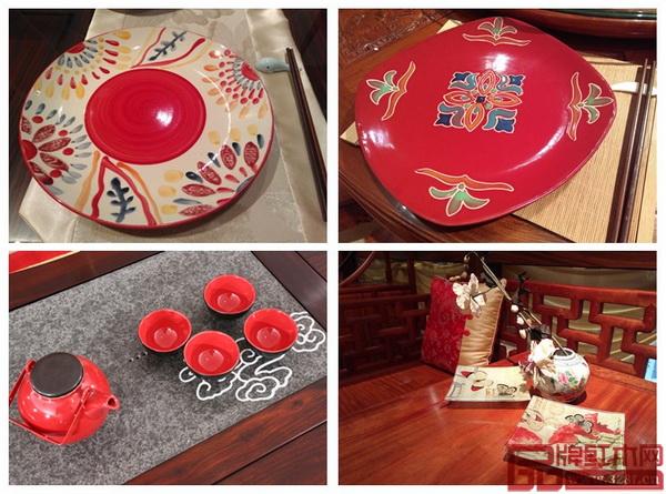 小巧精致的红色软装点缀出新年的喜悦(富宝轩供图)