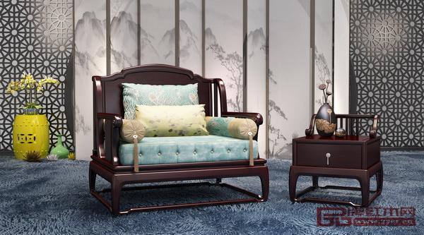 雍博堂《黑酸枝·现代新中式系列沙发》