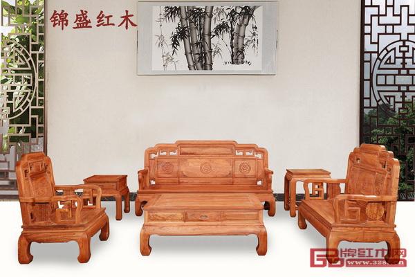 锦盛红木《非洲缅花·国色天香沙发》
