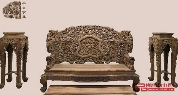 帝皇家具 《缅甸花梨·大锦龍床》