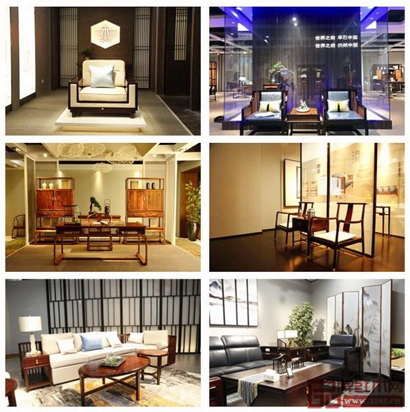 """2018中山红博会上各大红木家具展厅布置呈现出多样唯美""""中国风"""""""