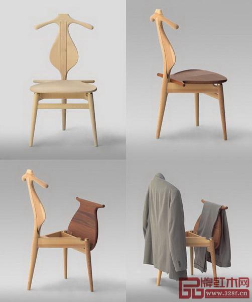 """丹麦设计师汉斯·魏格纳吸收明式家具精髓设计的""""Valet-Chair"""""""