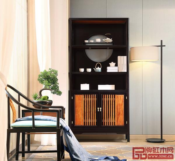 世珀打造的当代东方家居空间(《无畏茶水柜》+《浅漾休闲椅》+《浅漾休闲几》)