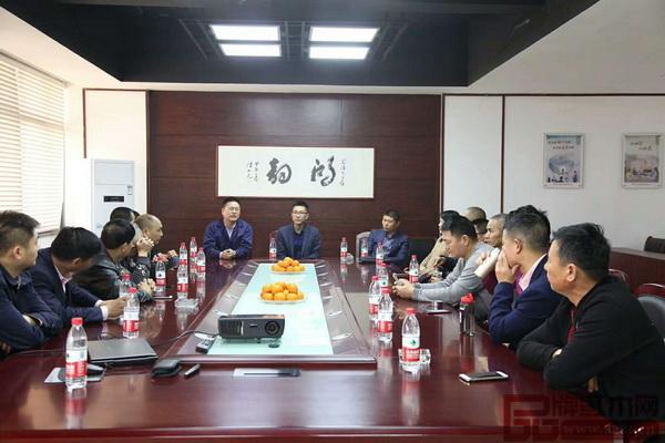 东阳市画水镇领导组织当地企业参观豪族旺家节能环保工作