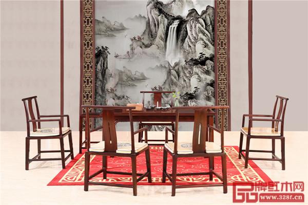 富宝轩红木产品《罗杰斯茶台》