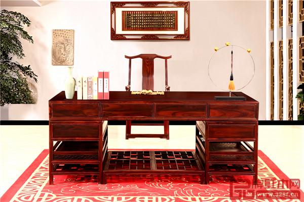 富宝轩红木产品《明式办公台》