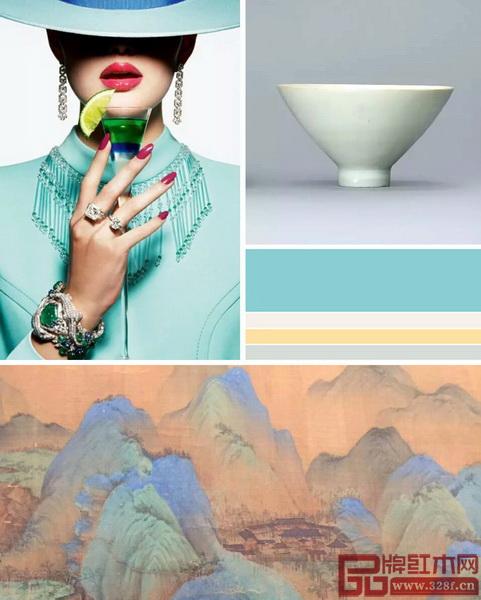 《无畏》系列以青绿色为主的软包,再现了天才画家王希孟创造的实景与想象,青绿画里程碑之作的色彩真实生动,与唯美清新的蒂芙尼蓝共同打造出品质感,宋代文化与当代审美交叉重组,拓伸出东方文化的全新应用视野