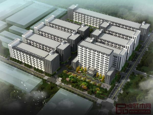 中信红木20万平方米新厂房鸟瞰图