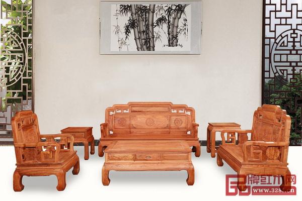 锦盛红木《国色天香沙发》