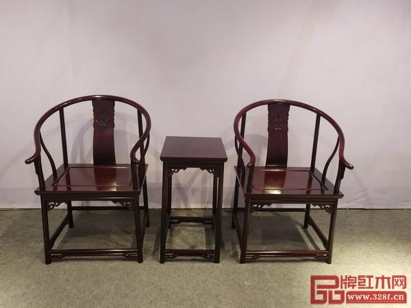 明尊古典——《寿字纹五接圈椅三件套》
