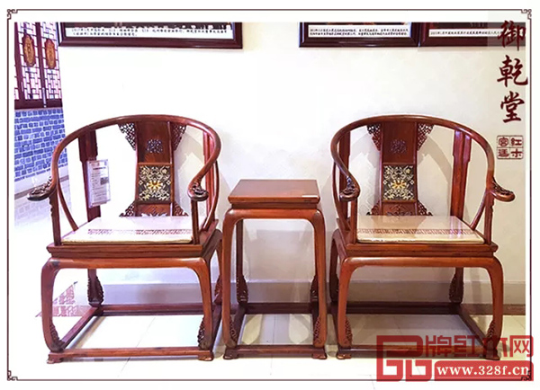 御乾堂红木·镶珐琅皇宫椅