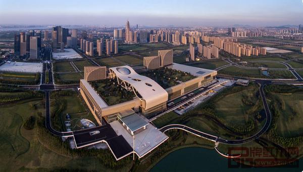 杭州国际家具展举办地——杭州国际博览中心俯瞰图