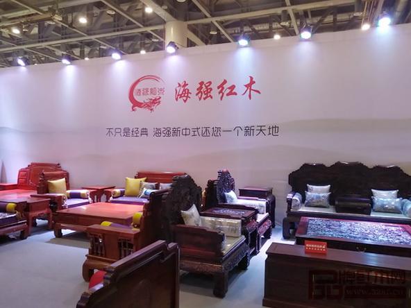 海强红木积极参加第一届杭州国际家具展