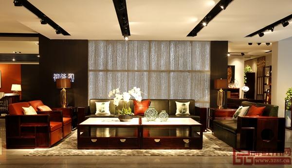 长汇红木·檀荟新中式黑酸枝《君度沙发》客厅氛围营造