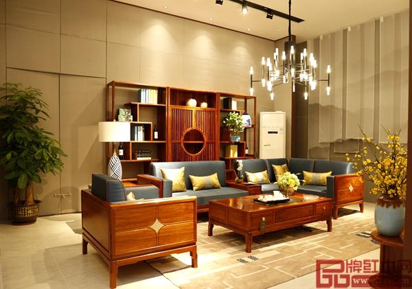 长汇红木·檀荟新中式家具体验式展厅——客厅氛围营造