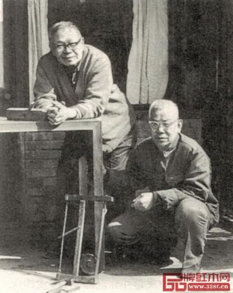 王世襄(左)与祖连朋