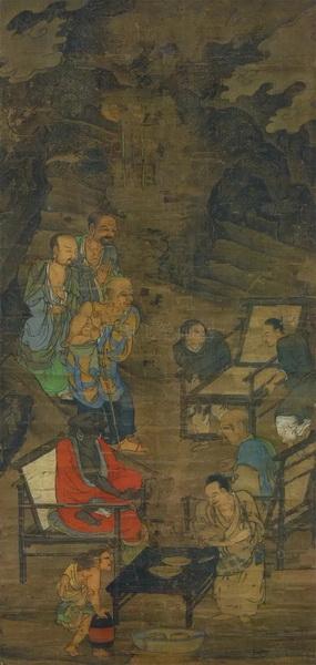 南宋周季常、林庭珪的《五百罗汉图》
