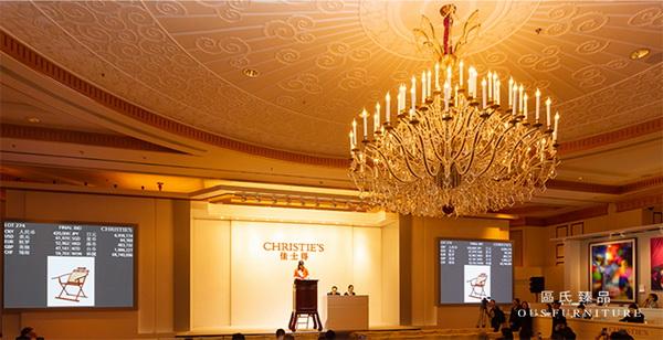 9月21日,区氏黄花梨躺椅以504000元于上海佳士得成功拍卖
