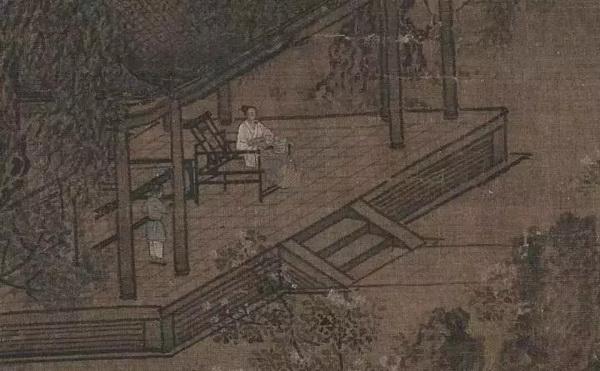南宋刘松年《四景山水图》中的醉翁椅