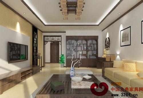 大气典雅:中式客厅装修效果图