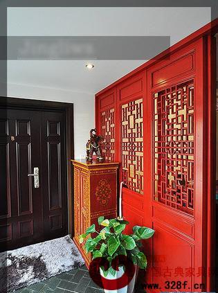 新古典风格别墅装修效果图:进门第一眼就看见红色的
