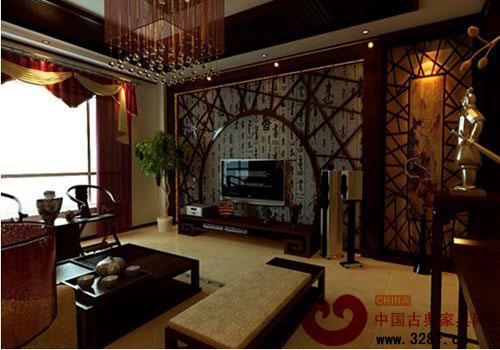 中式客厅装修效果图 给人耳目一新的感觉高清图片