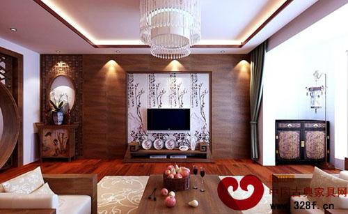 10万打造简约中式风格装修效果图-品牌红木网