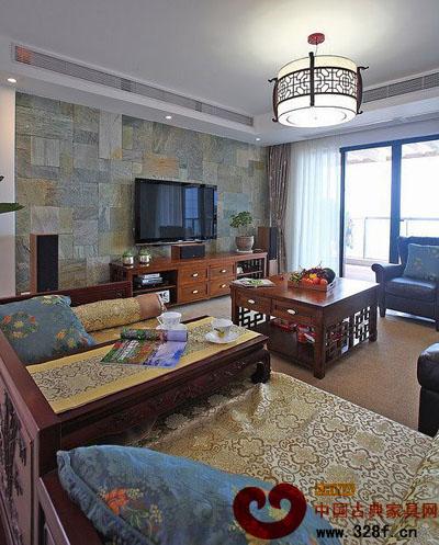 中式情怀家居装修效果图   95平米三居室中式装修设计