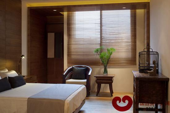 中式酒店豪华卧室装修效果图