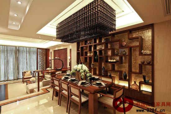 中式别墅装修效果图-中国古典家具网图片