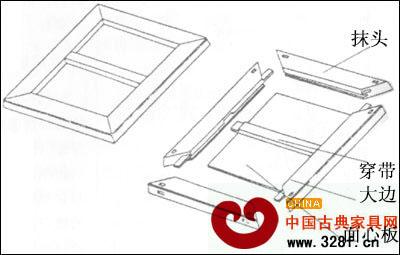 传统红木家具榫卯工艺结构图