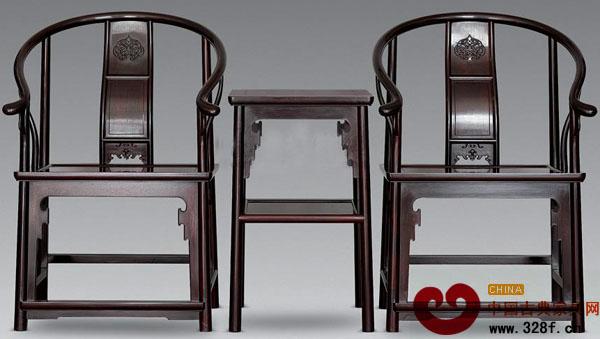 紫檀明式夹板圈椅