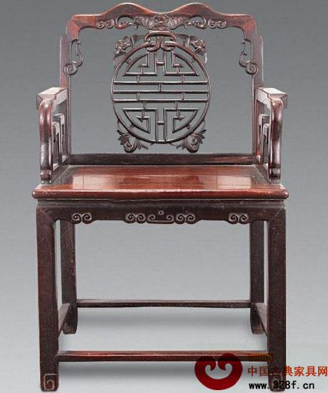 红木寿字纹太师椅
