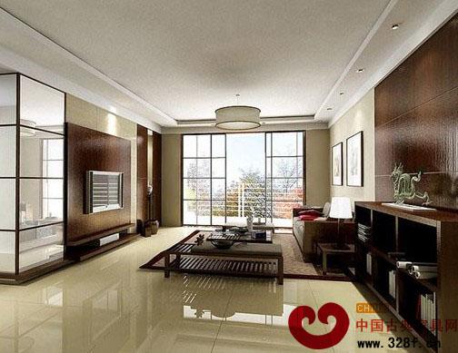 中式客厅装修效果图:简单的摆设,却不单调,宁静久远的心境体