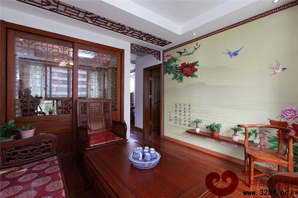 中式风格小户型装修效果图-中国古典家具网