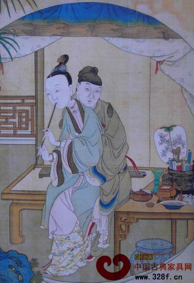 """从中国古代""""春宫画""""管窥明清室内家具陈设"""