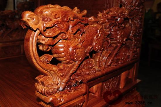 童星长大后效果图欣赏-福、镇宅辟邪的作用(苏阳红供图)-红木家具雕刻纹饰鉴赏 四 瑞兽纹