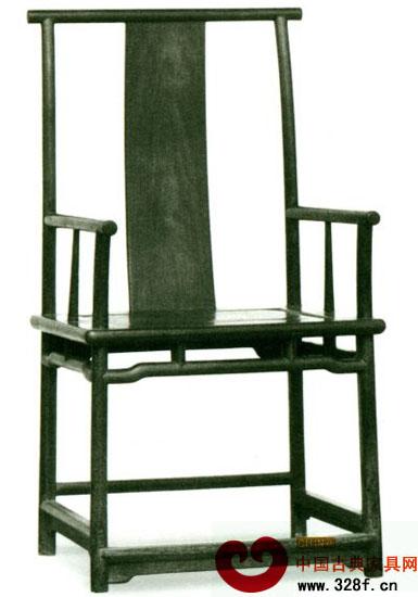 四出头素官帽椅(铁力74×60.5cm,座高52.8cm.通高116cm)