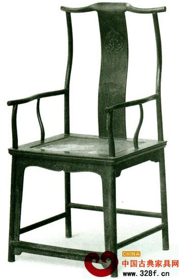 四出头弯材官帽椅(黄花梨58.5×47cm座高52.5cm通高119.5cm)
