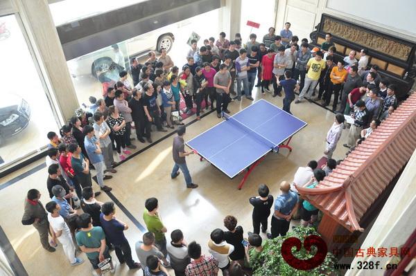 東清阁2014五一运动会乒乓球比赛现场