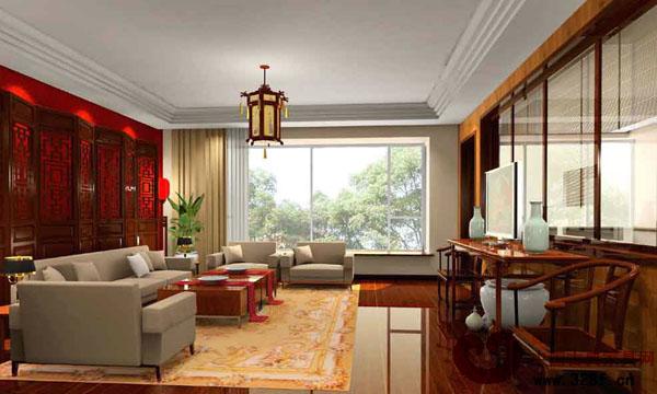 新中式风格餐厅装修效果图-品牌红木网