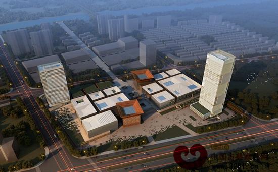 中国木雕文化博览城全景鸟瞰图
