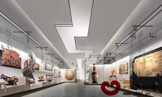 中国木雕文化博览城大师展区透视图