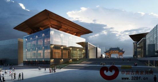 中国木雕文化博览城文化广场透视图