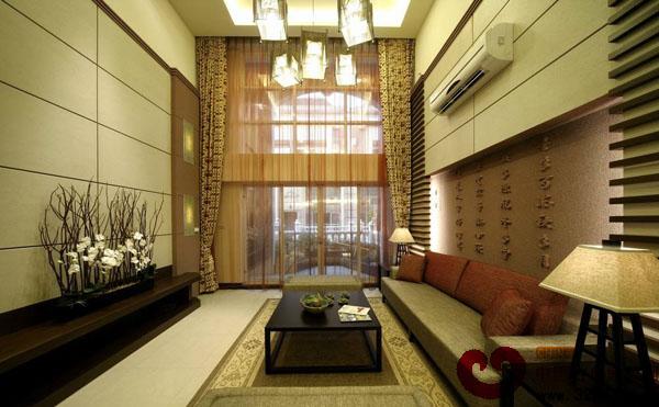 中式禅风别墅地台设计装修效果图